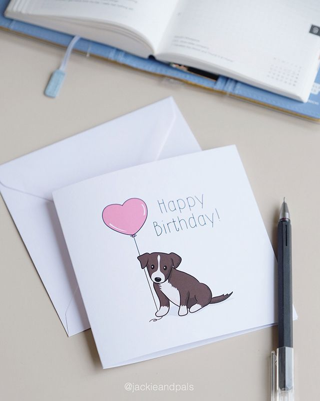 Border Collie birthday card - jackieandpals - gohlikim | ello