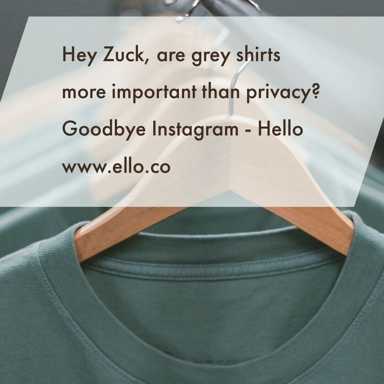 Thought fitting post Instagram  - 1dot6 | ello