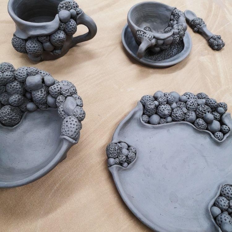 ceramics, pottery, details, clay - puntonegropottery | ello