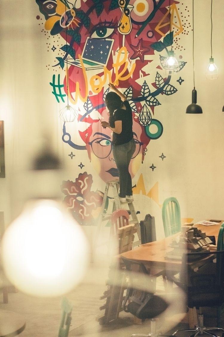 Mural Selina Antigua CoWorking  - suagape | ello