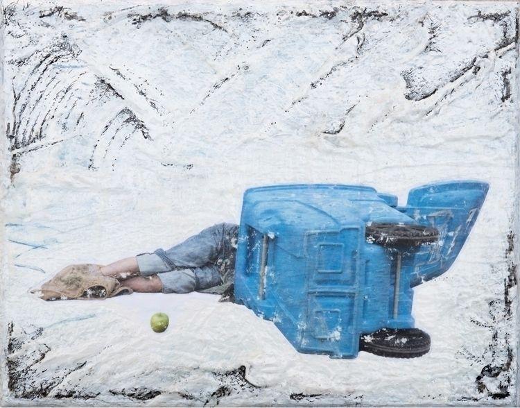 homeless person sleeps recyclin - jasonogulnik | ello
