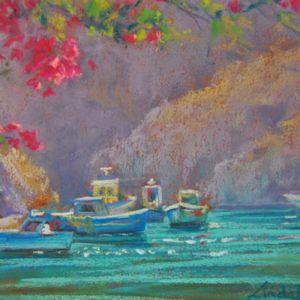 Beautiful Beach Landscapes Artw - pastelartprints   ello