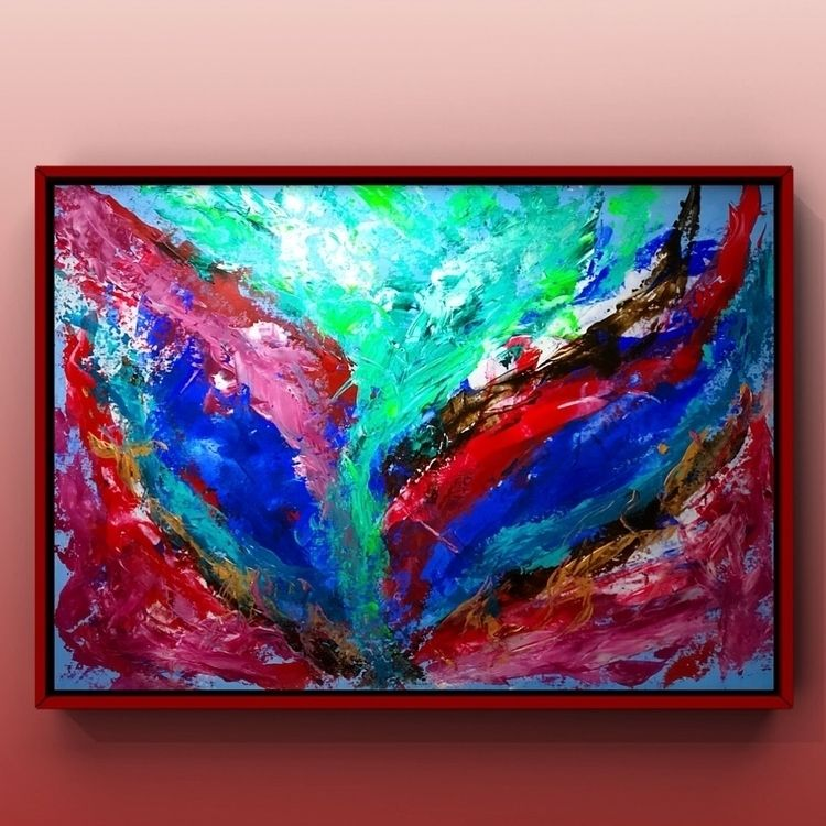 abstract Acryl painting YouTube - taichi_nagayama | ello