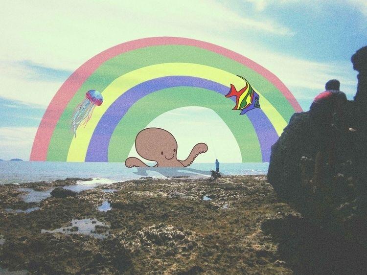 Kids Dream - collageart, sea, ocean - agiksyah | ello