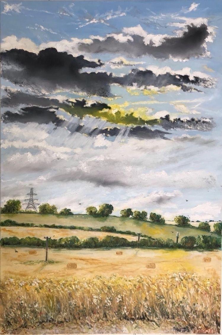 Landscape - West Sussex. Oil (2 - joseworld | ello