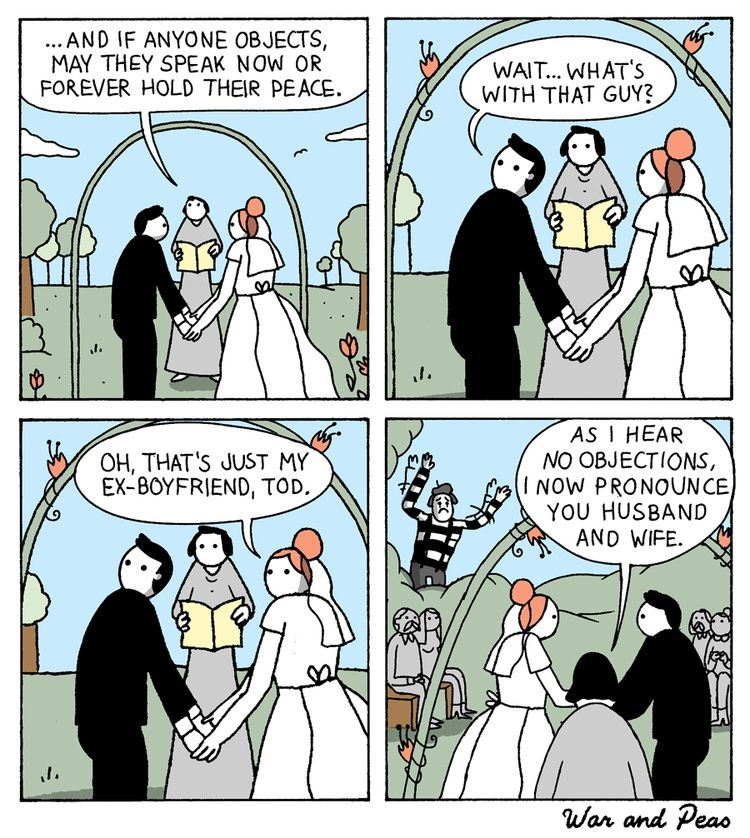 Wedding Day - comic, webcomic, warandpeas - warandpeas | ello