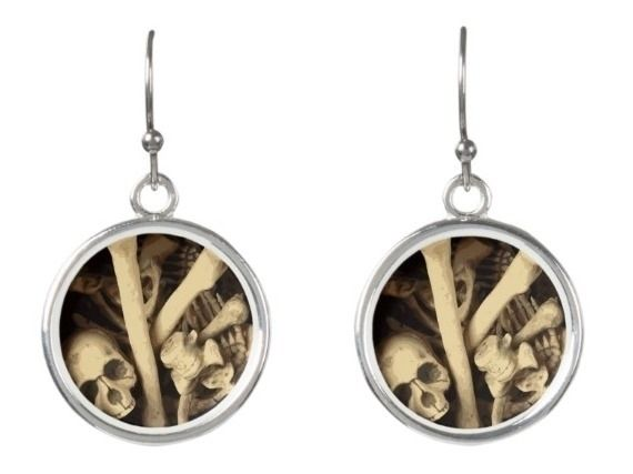 Caldron bones earrings illustra - someartworker | ello