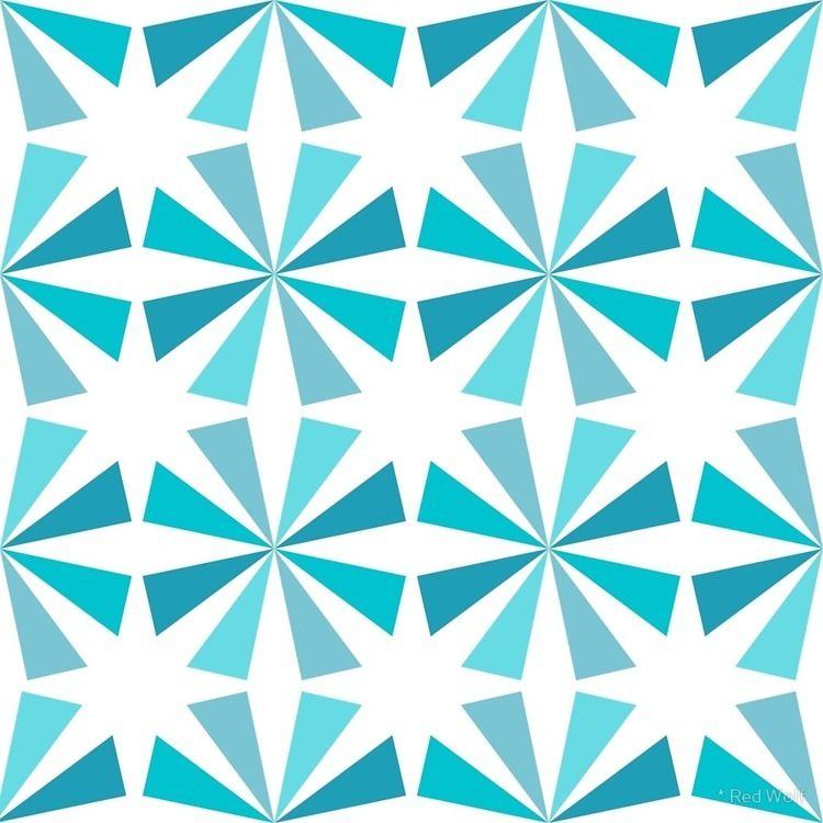 Geometric Pattern: Star: Blue  - red_wolf   ello