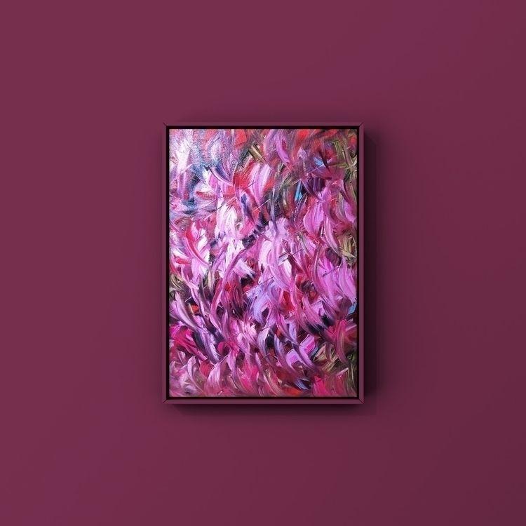 abstract oil painting YouTube:b - taichi_nagayama | ello
