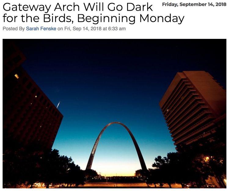 St Louis Gateway Arch dark week - ccruzme | ello