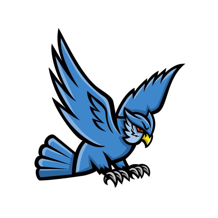 Horned Owl Swooping Mascot illu - patrimonio | ello