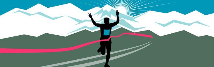 Marathon Runner Finishing Wide  - patrimonio   ello