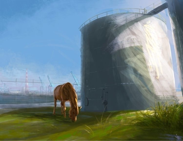Crude Graze - digitalpainting, digitaldrawing - vjc | ello
