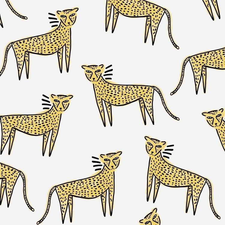 Cheetahs - illustration, felines - andrecaceresg | ello