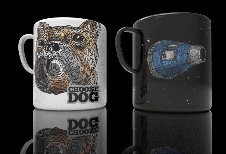 Choose Dog - dog, mug, coffee - mrwonderful12 | ello