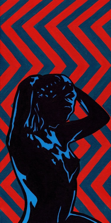 Molly II - acrylic canvas, 12x1 - crd_larson | ello