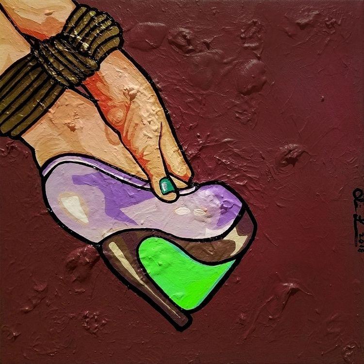 Rough - acrylic canvas, 12x12x0 - crd_larson | ello