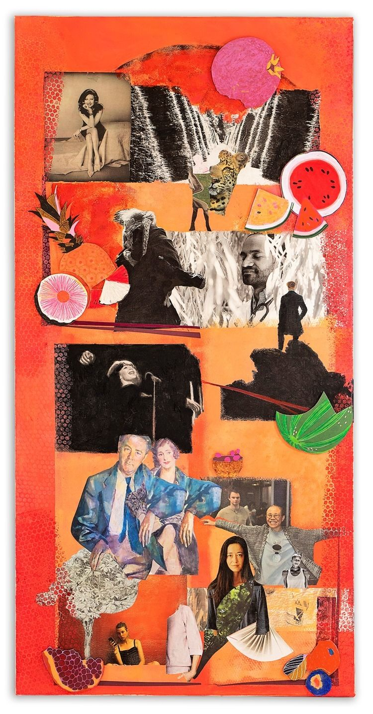 Talking joy Collage canvas 2018 - 11frances | ello