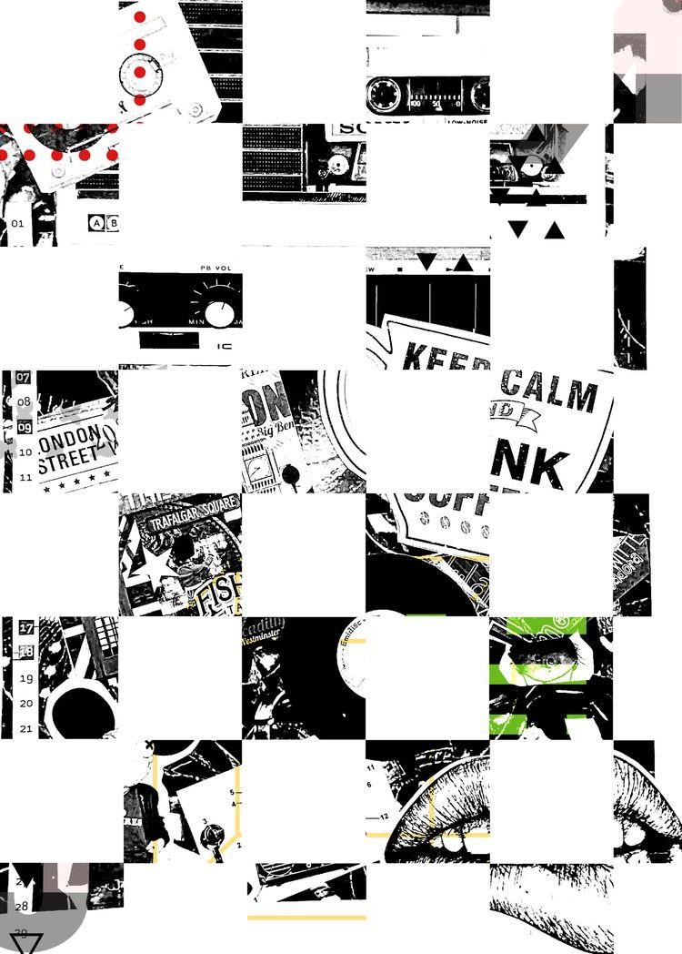 Black White Collage + Chess Pat - jazzchocolate | ello