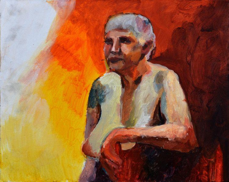 acrylic portrait canvas, 2018 - painting - karolinaciezak | ello