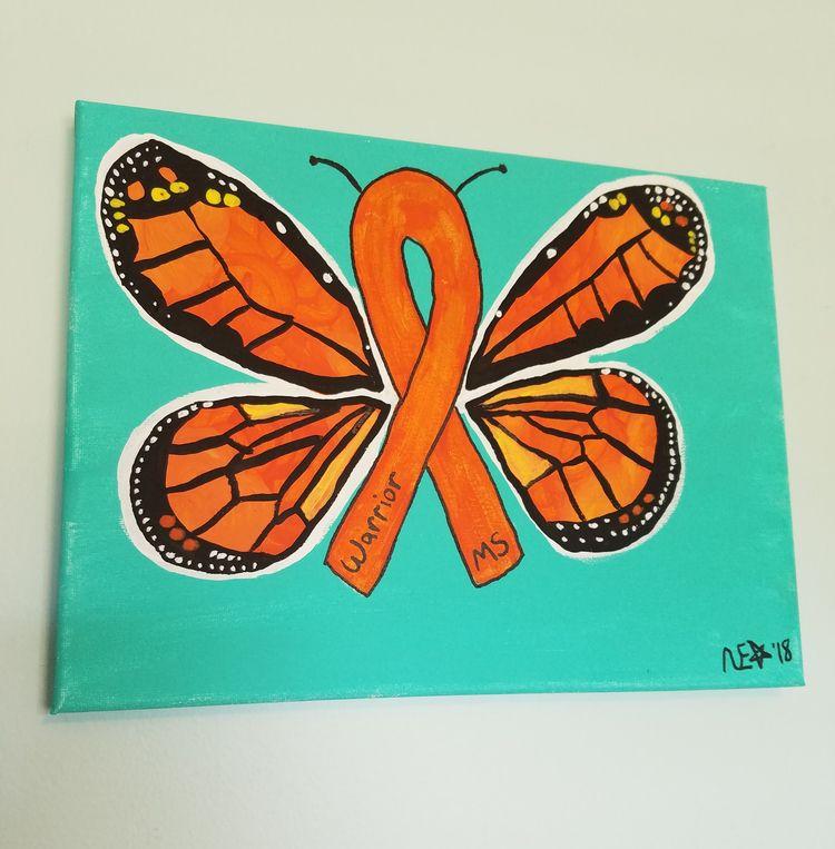 orange symbol $30 - monarch, butterfly - ohboyflamingsoy | ello