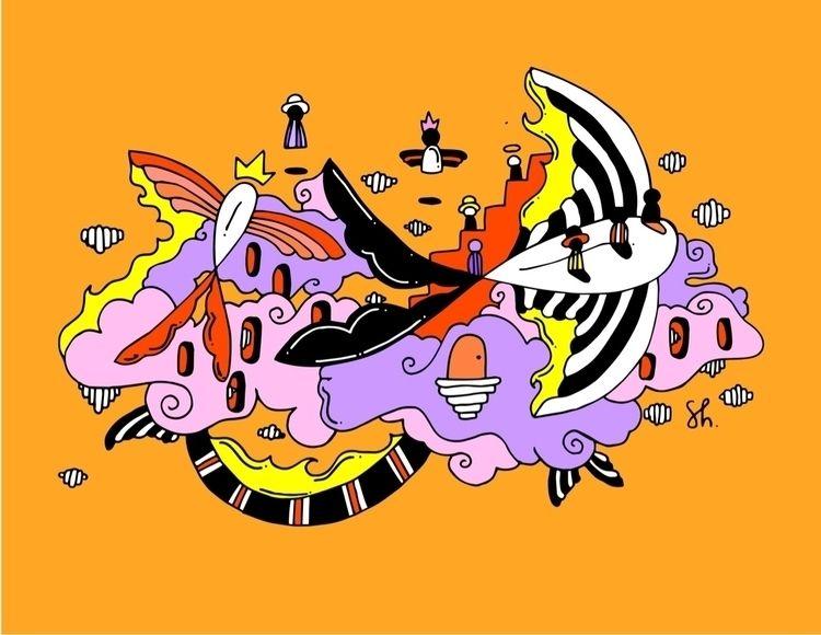 """Fish Place"" imaginary world fl - shelbyworks | ello"