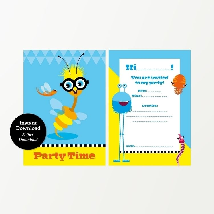Printable invitations birthday  - piakolle   ello
