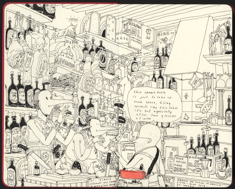 Osteria, drawn location Venice - mattiasadolfsson | ello