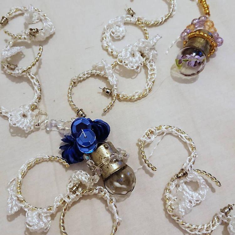 Crochet earrings Elin Manon - mixedmedia - anaispaws | ello