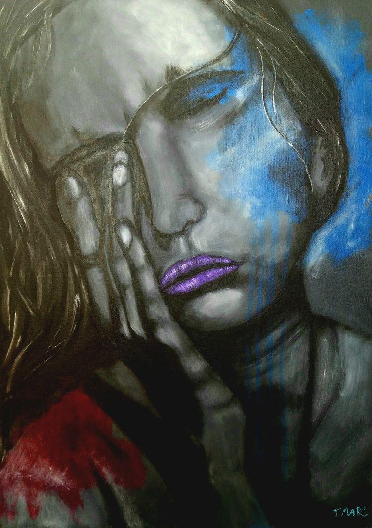 NOIR Acrylic canvas 50 cm 70 - contemporaryart - tmarcoantonio | ello