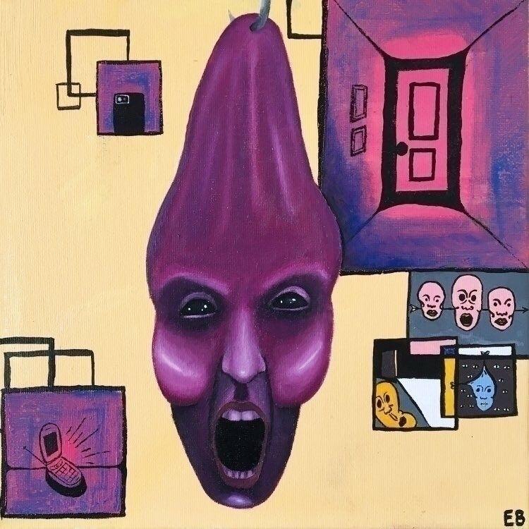 """hanging guess"" oil canvas - art - evancarterart | ello"