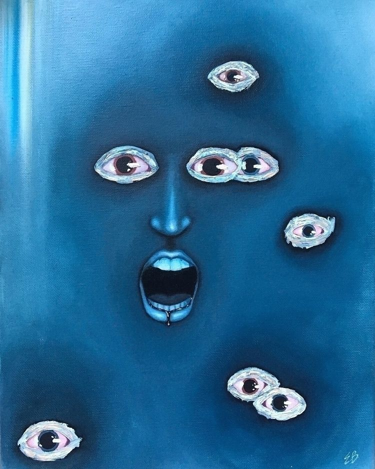 """feeling ____"" oil canvas - art - evancarterart | ello"