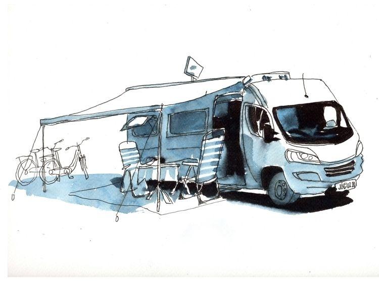 Camping Felix Braden watercolou - felixbraden | ello