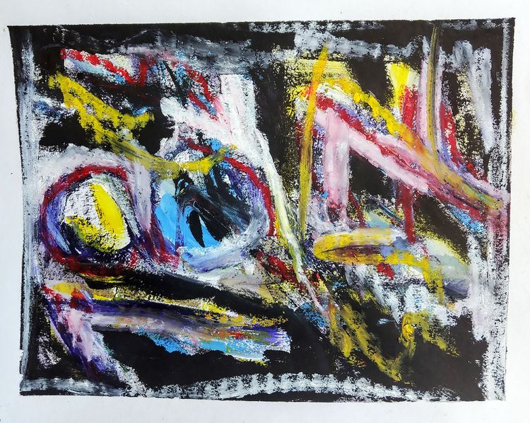 abstract (8) 2018 acrylic, wate - rebirth_synchroscope | ello