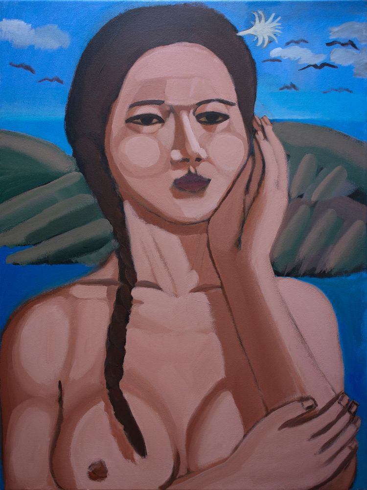 Island Girl Acrylic canvas, 40  - chunbumpark | ello