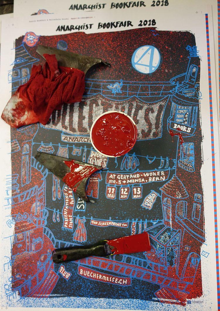 018 - plakat, anarchist, bookfair - _ttf | ello