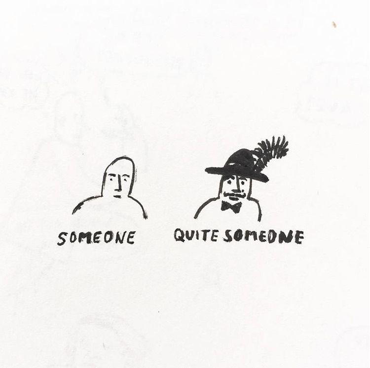 quitesomeone, illustration, ink - yallah   ello