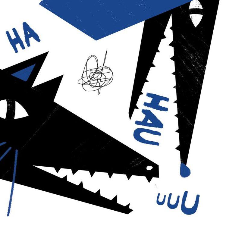 Woof, digital illustration - m_sturgulewska | ello