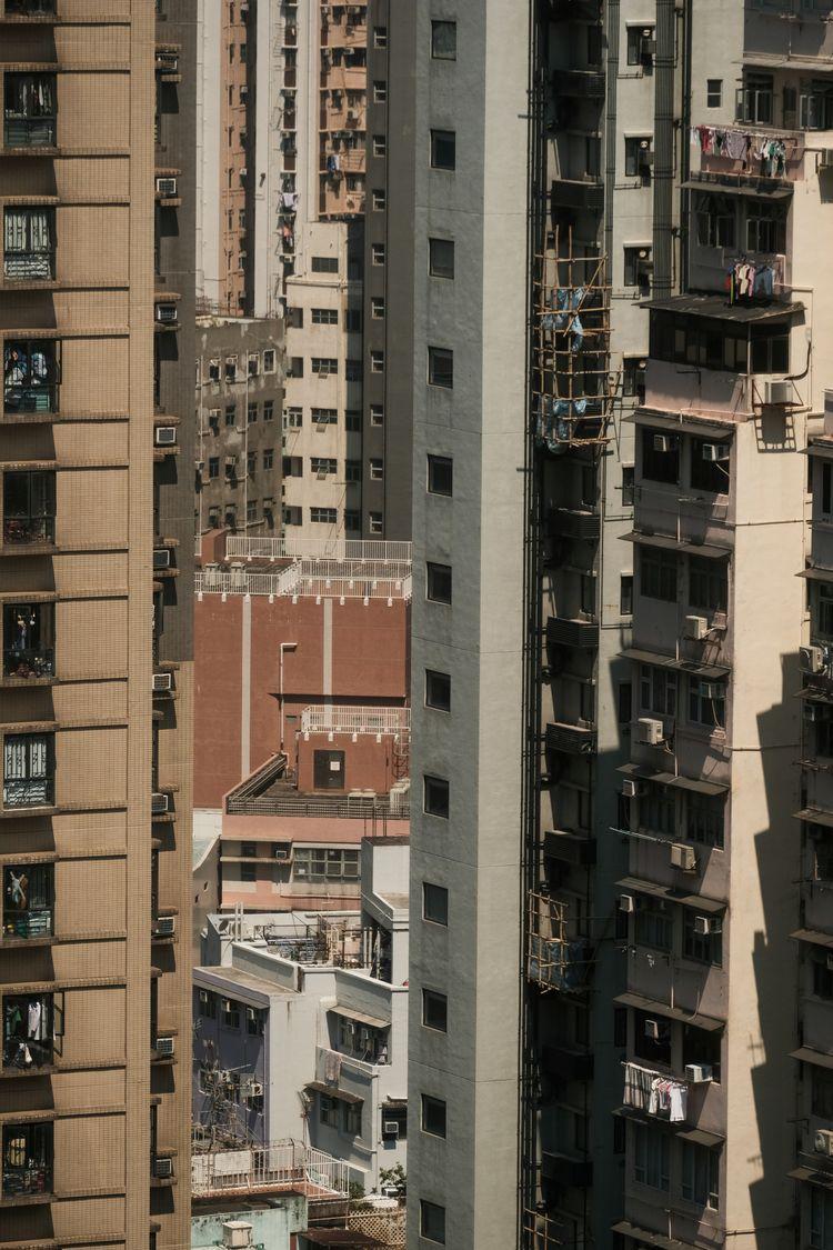 Sheung Wan balconies - xseries, streetphotography - kch | ello