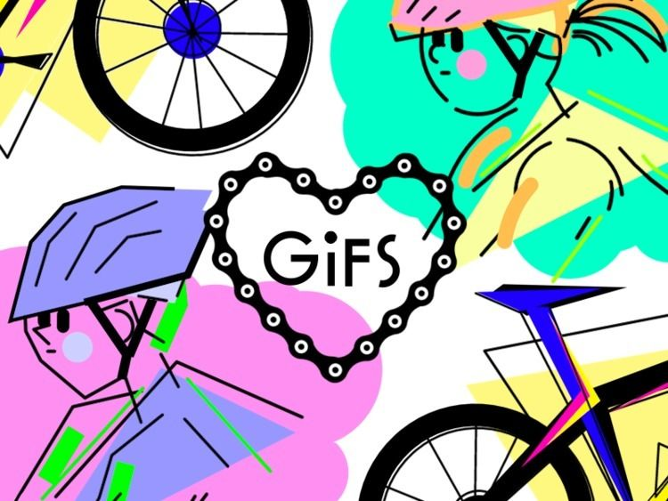 put summer gifs Behance: Biking - v5mt | ello