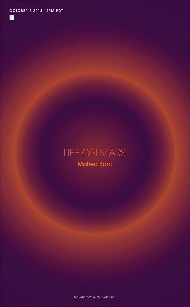 Life Mars HackChat - poster, design - randomwalks | ello