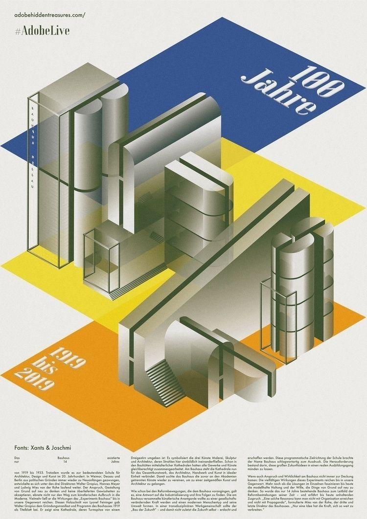"Design, ""Joschmi typeface main  - bauhaus-movement | ello"