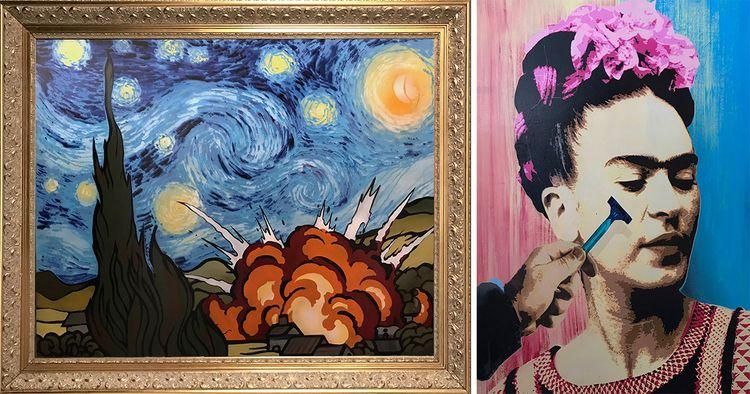Artist Classical Paintings Sati - banksy | ello