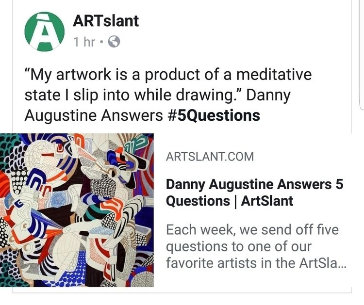 Check interview Artslant - dannyartist | ello