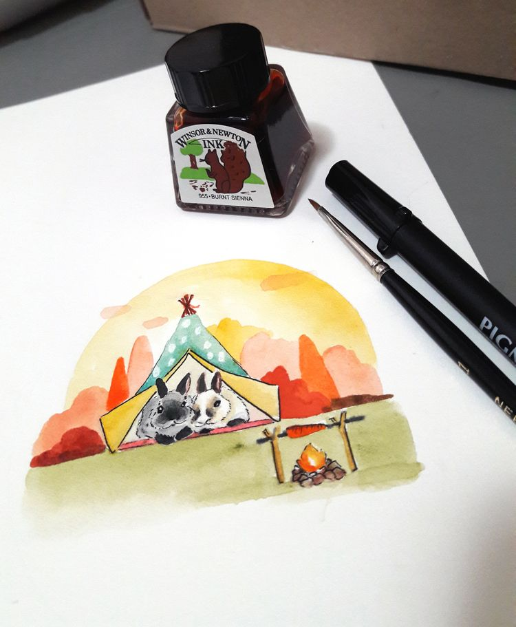 Day 5 Inktober: Camp - flpinktober - j0eyg1rl | ello