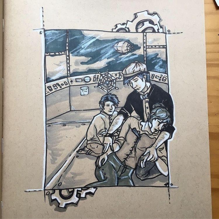 Day inktober - ink, copic, illustration - astarbriarart | ello