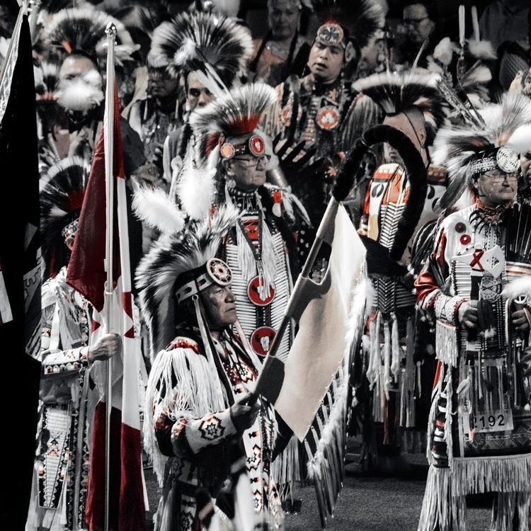 PowWow Selective colour. group  - jeff_day | ello