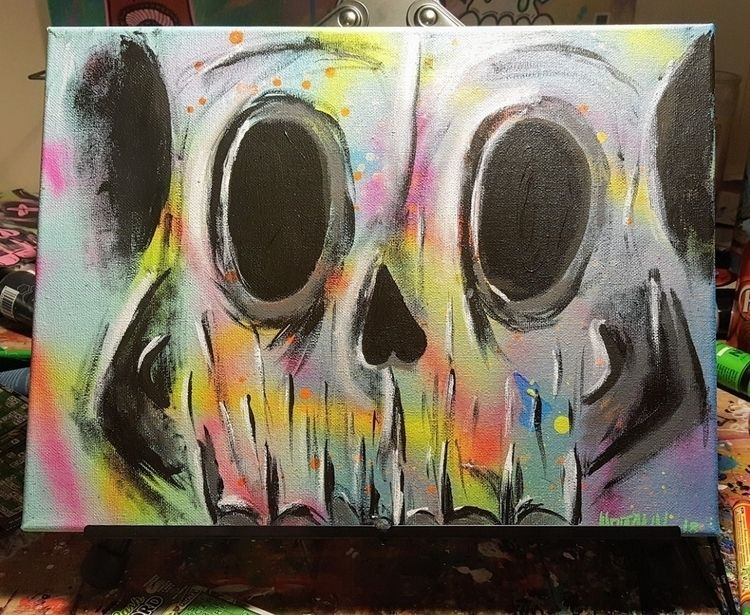 SH∆PE LURKS acrylic paint, molo - hoodnun   ello