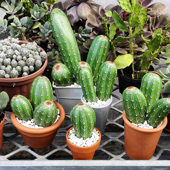 Painted Rocks - Cactus - decorkiki | ello