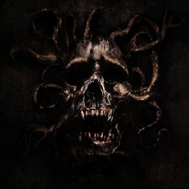 Skull 2 (Digital painting) Dark - rony_azurdia | ello